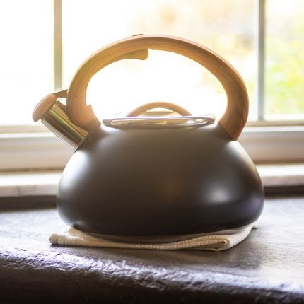 Black Whistling Tea Kettle