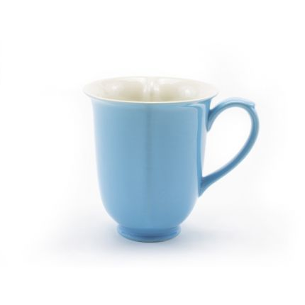 Blue Heart Shaped Mug