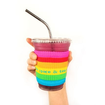 Rainbow Slippy Hot or Cold Coozie
