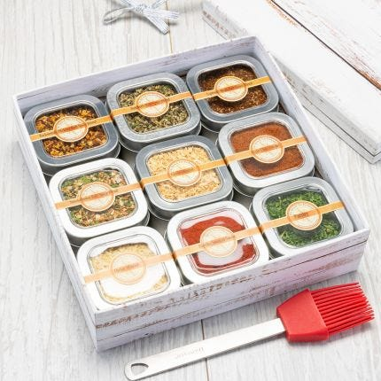 The Gift of Grilling 9 Tin Gift Box