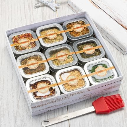 Tis the Seasonings 9 Tin Gift Box