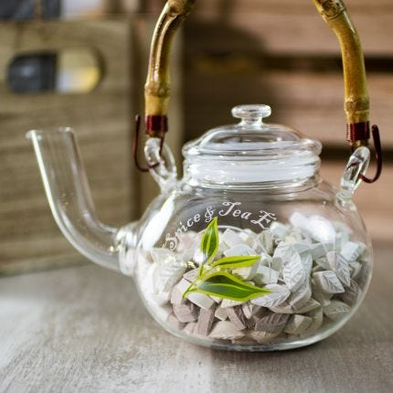 TSTE® Tea Mints Glass Teapot