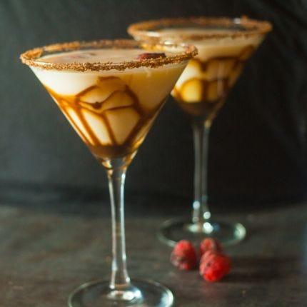 White Chocolate Raspberry Martinis