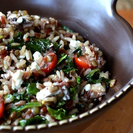 Woodsman's Rice & Kale Salad
