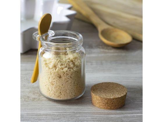 "SET of 2 Bamboo Soup Tasting Spoon Scoop Salt Sugar Tea Broth Mix 6/"" Wood Spoon"